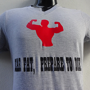 Dear Fat Prepare To Die - Grey T Shirt