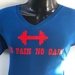 No Pain No Gain - Blue T Shirt