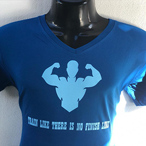 Train Like There Is No Finish Line - Blue T Shirt